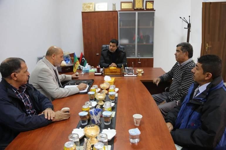 زيارة لبلدية زوارة لإنشاء مختبر قياسات إشعاعية